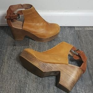 Free People Leather Clogs